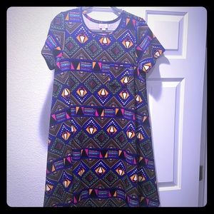 LulaRoe Carly Aztec Print Dress